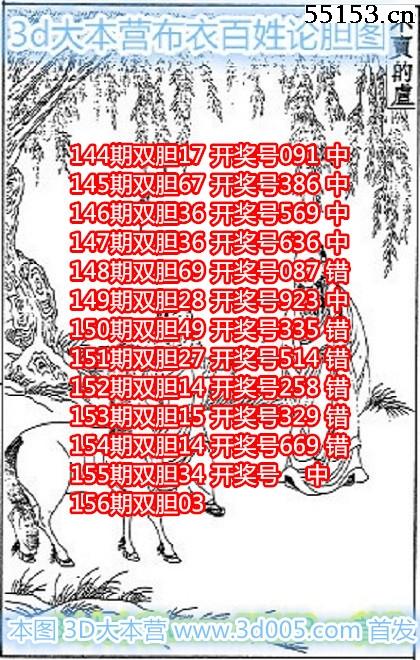 布衣3D图谜18156期布衣百姓论胆图迷原创
