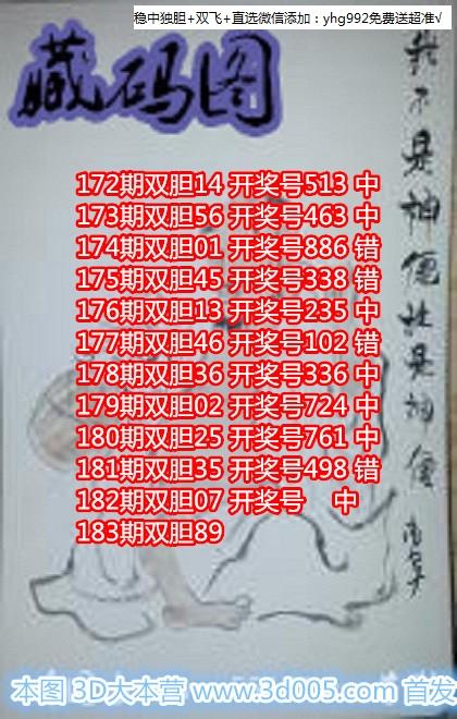 藏码图18183期福彩3D鬼六图库图谜原创