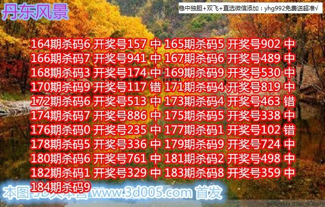 丹东福彩3D2018184期丹东风景画迷原创